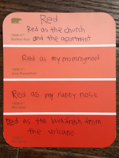 Engage Student Senses with Paint Chip Poetry