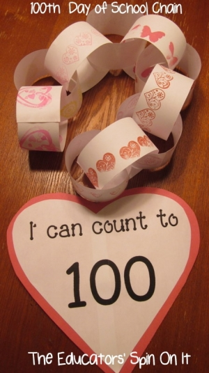 100th day of school chain